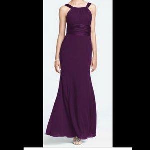 Chiffon and Charmeuse Plum Dress